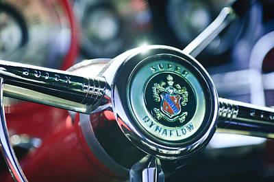 Photograph - Buick Eight Steering Wheel by Jill Reger