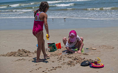 Photograph - Building Castles At The Beach by Barbara Middleton