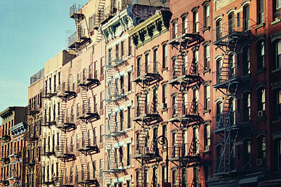 Building Fire Escape Stairs And Windows Art Print