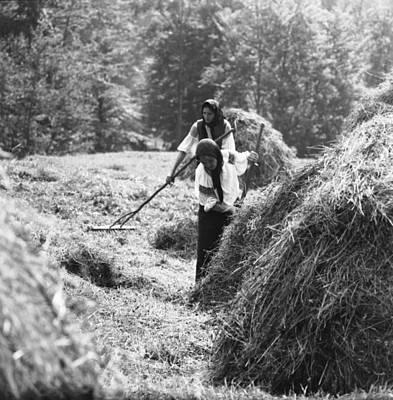 Photograph - Building Haystacks by Emanuel Tanjala