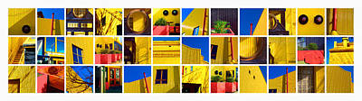 Building Mosaic  Art Print by Mauro Celotti