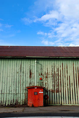 Print featuring the photograph Building Series - Red Shack by Kathleen Grace