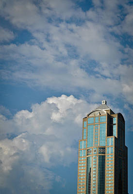 Art Print featuring the photograph Building With Its Head In The Clouds by Ronda Broatch