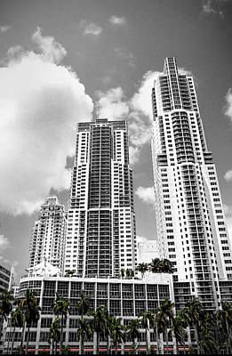 Photograph - Buildings Downtown Miami by Rudy Umans