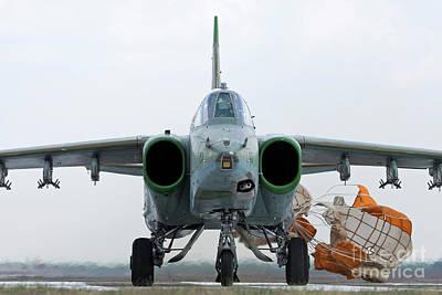 Sukhoi Photograph - Bulgarian Air Force Sukhoi Su-25k by Anton Balakchiev