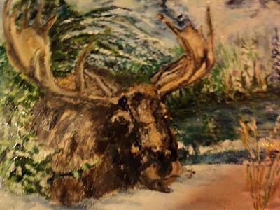 Bull Moose Art Print by Lynn Welker