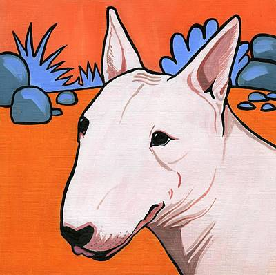 Painting - Bull Terrier by Leanne Wilkes