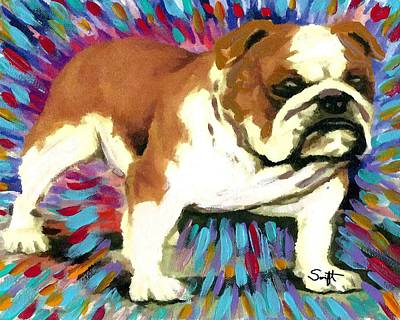 Dog Painting - Bulldog by Char Swift