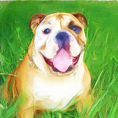 Bulldog Art Print by Ritmo Boxer Designs