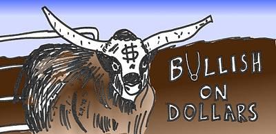 Financial Mixed Media - Bullish On Dollars by OptionsClick BlogArt