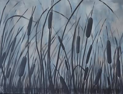 Painting - Bullrush Blues by Holly Donohoe