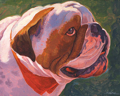 Dog Close-up Painting - Bully For Me by Shawn Shea