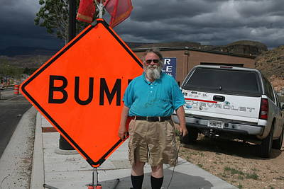 Photograph - Bum With Bumper Stickers by Gregory Scott