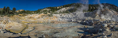 Mudpot Photograph - Bumphass Hell Panorama by Greg Nyquist