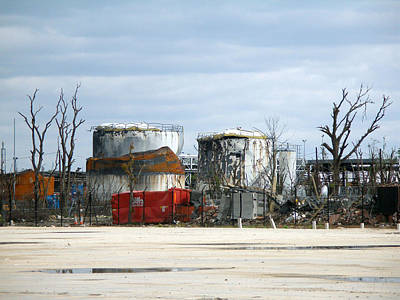 Photograph - Buncefield Aftermath by Rod Jones