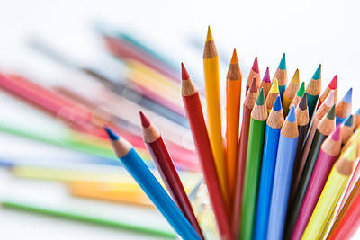 Photograph - Bunch Of Color Pencil by SJ. Kim