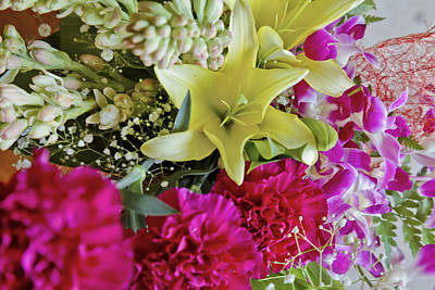 Bunch Of Flowers Happy Art Print by Kantilal Patel