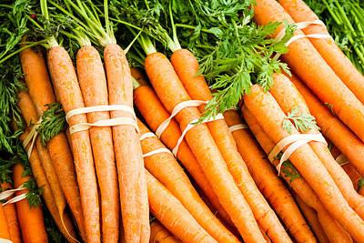 Photograph - Bunches Of Carrots by Dina Calvarese