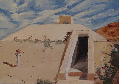 Iraq Painting - Bunker by Alexander Buck