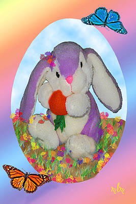 Photograph - Bunny And Strawberry by Marie Morrisroe