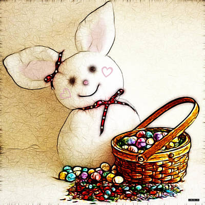 Photograph - Bunny N Eggs Wall Art by Methune Hively