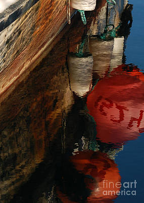 Photograph - Buoy Reflection I by Chuck Flewelling