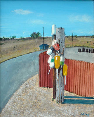Painting - Buoys On A Pole by Anthony Ross