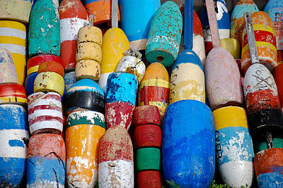 Photograph - Buoys by Peggie Strachan