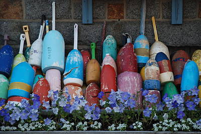 Photograph - Buoys by Richard Bryce and Family