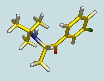 Bupropion Drug Molecule Art Print