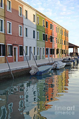 Art Print featuring the photograph Burano Canal by Rebecca Margraf