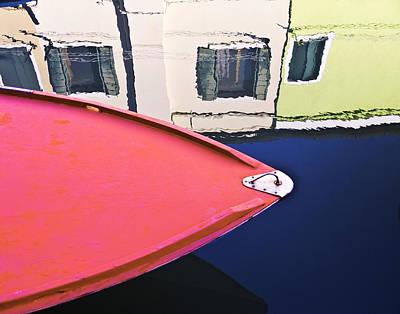 Art Print featuring the photograph Burano Colorful Art  #1 - Burano Venice Italy Fine Art Photography by Artecco Fine Art Photography