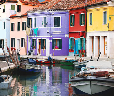 Photograph - Burano In Dramatic Light by Paul Cowan