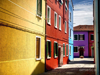 Burano Island - Colorful Houses Art Print by Gregory Dyer