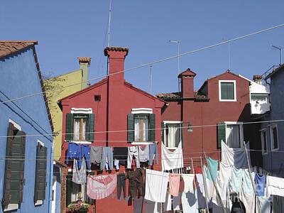 Venise Photograph - Burano. Venice by Bernard Jaubert