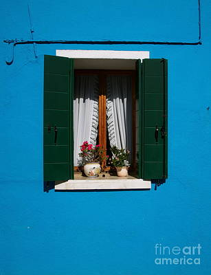 Photograph - Burano Window by Louise Fahy