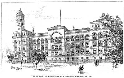 Bureau Of Engraving, 1890 Art Print