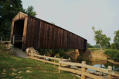 Burford Covered Bridge Art Print