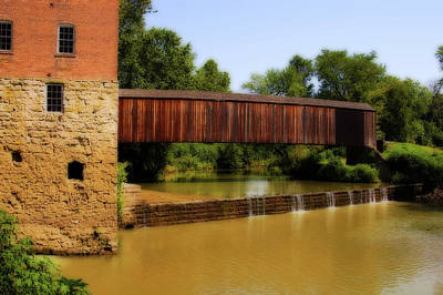 Photograph - Burfordville Covered Bridge by Steve Stuller