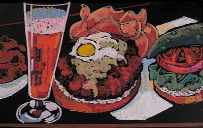 Pastel - Burger And Beer by Doris  Lane Grey