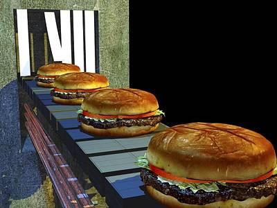 Burger Factory, Artwork Art Print by Christian Darkin