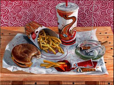 Painting - Burger King Value Meal No. 3 by Thomas Weeks