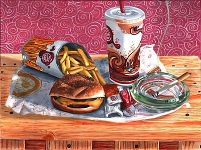 Painting - Burger King Value Meal No. 4 by Thomas Weeks