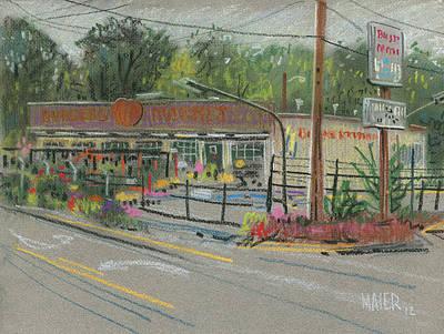 Burger's Market Art Print