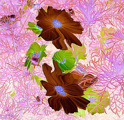 Painting - Burgundy Flowers by Richard James Digance