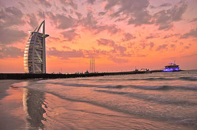 Burj Al Arab Dubai Art Print by Anusha Hewage