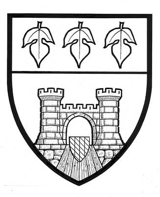 Drawing - Burkart Shield Of Arms by David Burkart