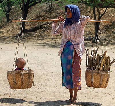 Documentary Photograph - Burman Woman And Son by RicardMN Photography