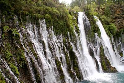 Photograph - Burney Falls 1 by Michael Courtney
