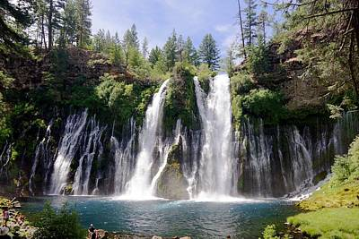Photograph - Burney Falls From The River by Michael Courtney